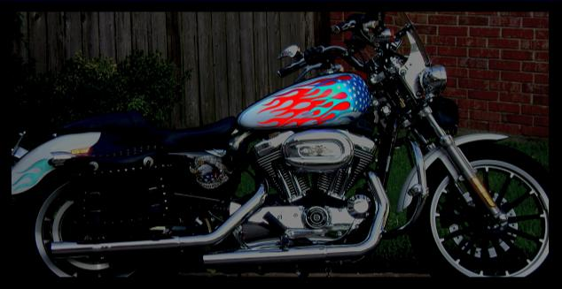 motorcycle flame tank decals wraps